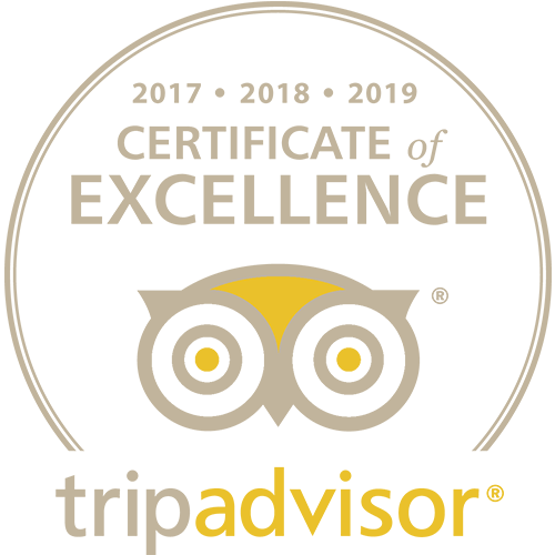 Tripadvisor Certificate of Excellence 2017-2018-2019