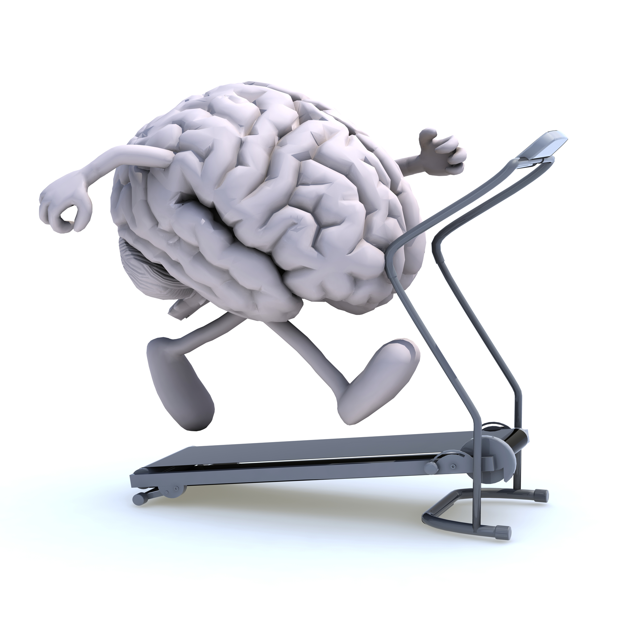 Image of a brain working out, what American escape rooms offer, a mindful experience.