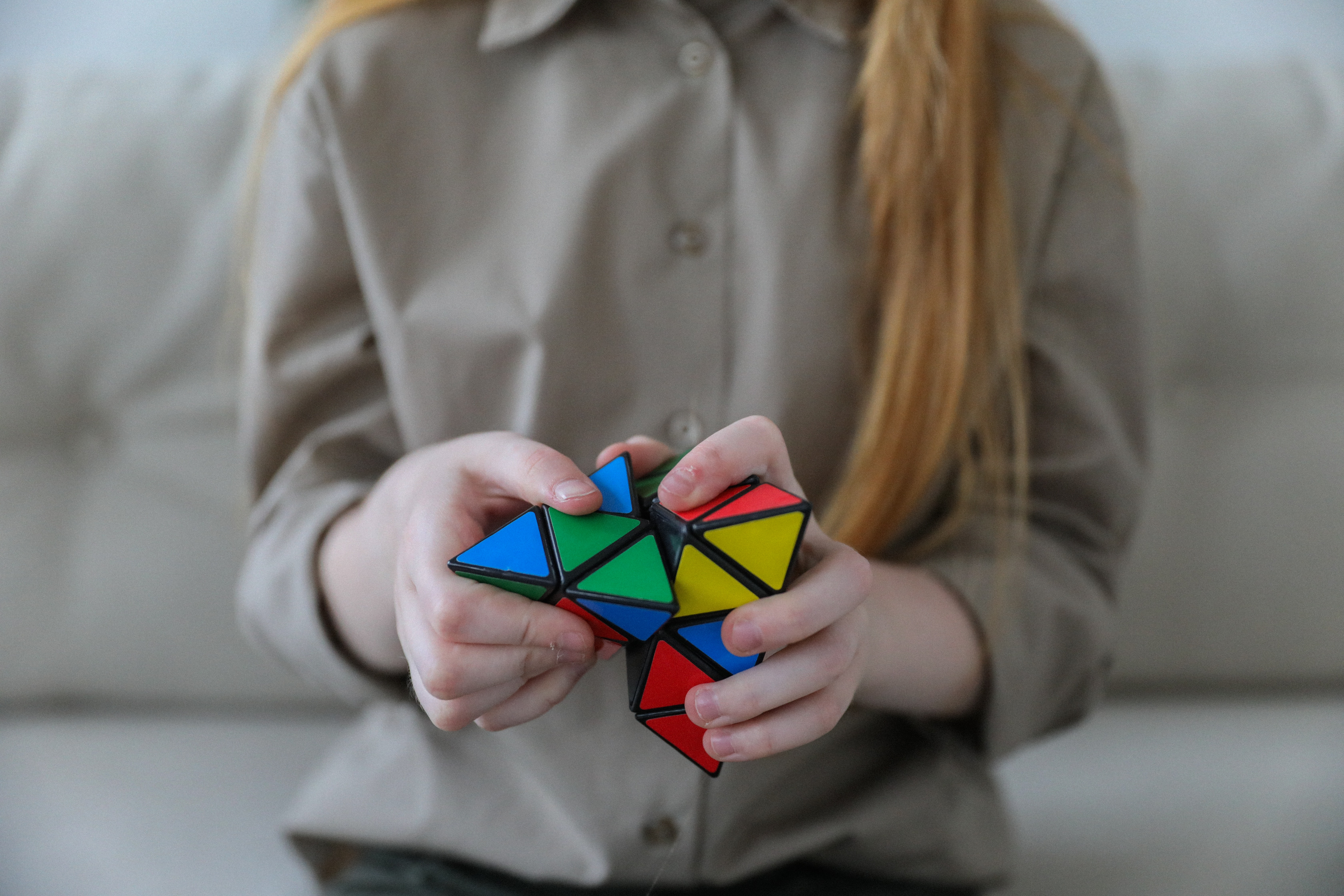 playing with a unique rubik cube