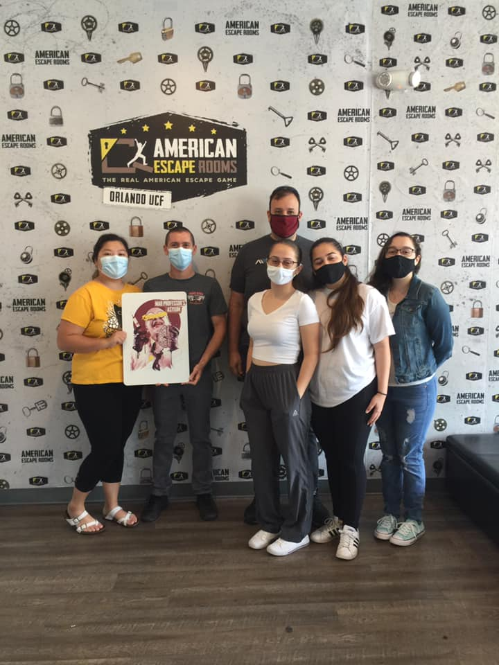 Team Fishers played the Mad Professor's Asylum - Orlando and finished the game with 2 minutes 36 seconds left. Congratulations! Well done!