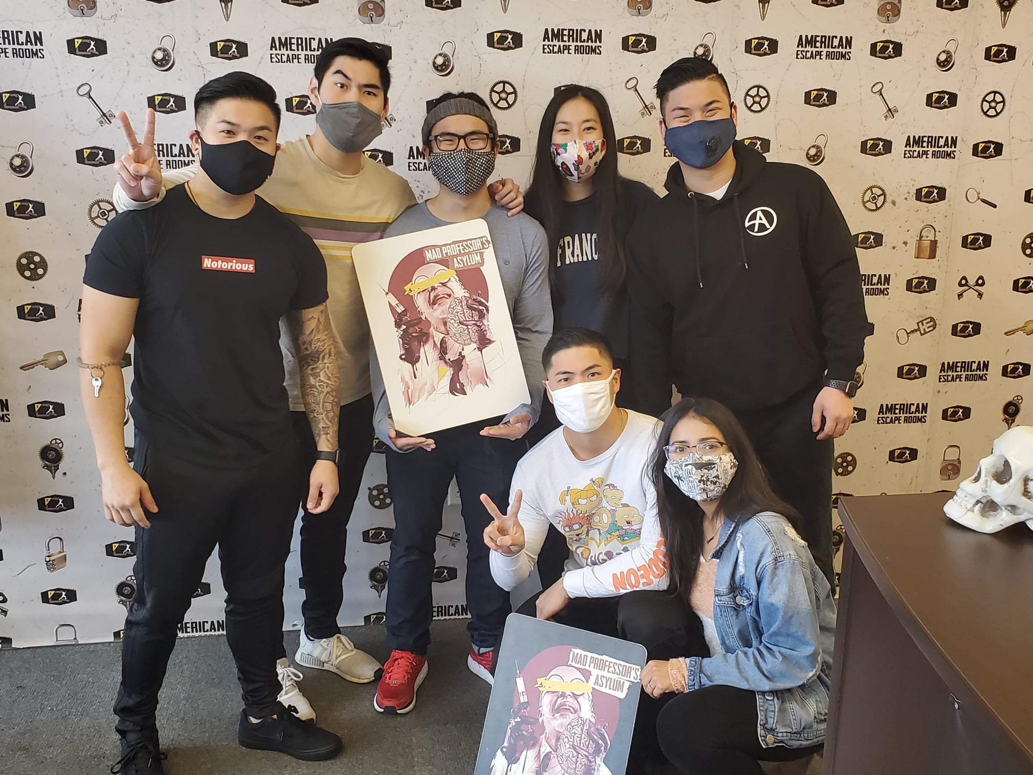 Yuliana's 'Big Brain' Birthday Squad played the Mad Professor's Asylum - Tampa and finished the game with 28 minutes 47 seconds left. Congratulations! Well done!