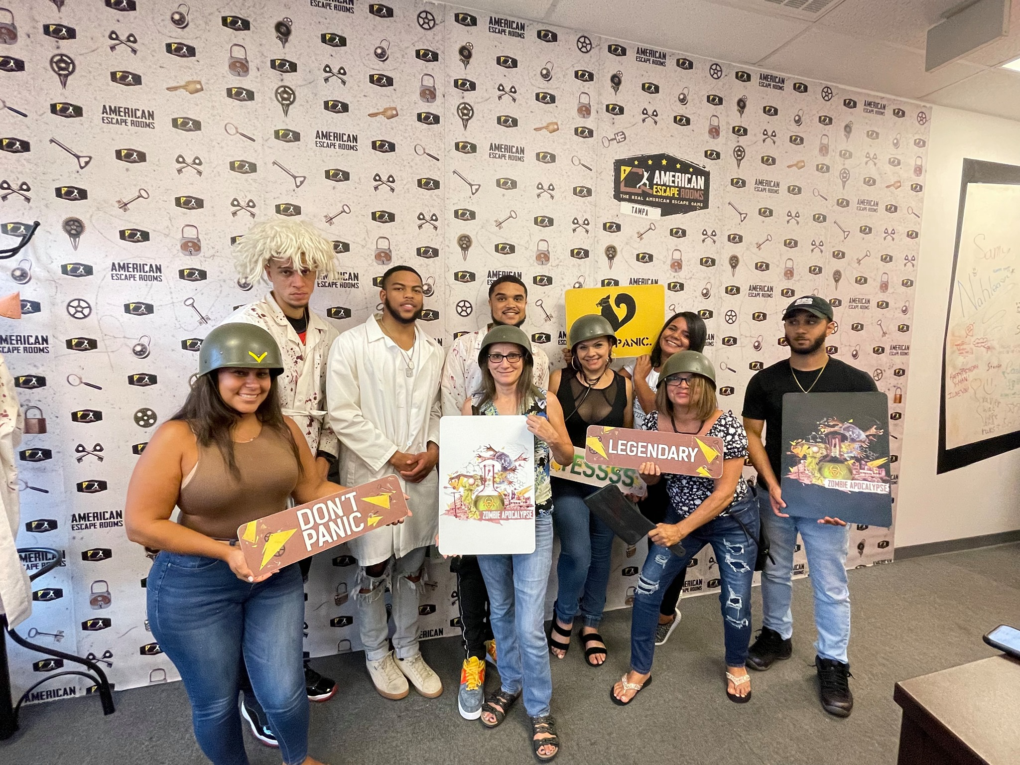 Team Rosa played the Zombie Apocalypse - Tampa and finished the game with 10 minutes 35 seconds left. Congratulations! Well done!