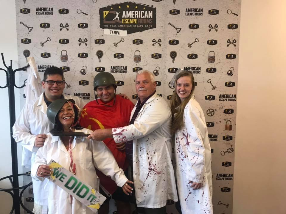 Team Birthday Escapers played the Zombie Apocalypse - Tampa and finished the game with 10 minutes 37 seconds left. Congratulations! Well done!