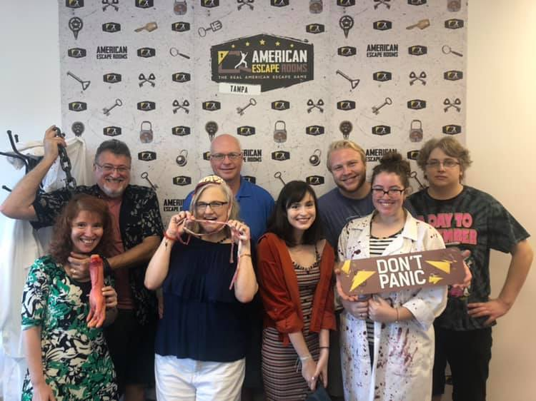 Team Birthday! played the Mad Professor's Asylum - Tampa and finished the game with 14 minutes 38 seconds left. Congratulations! Well done!
