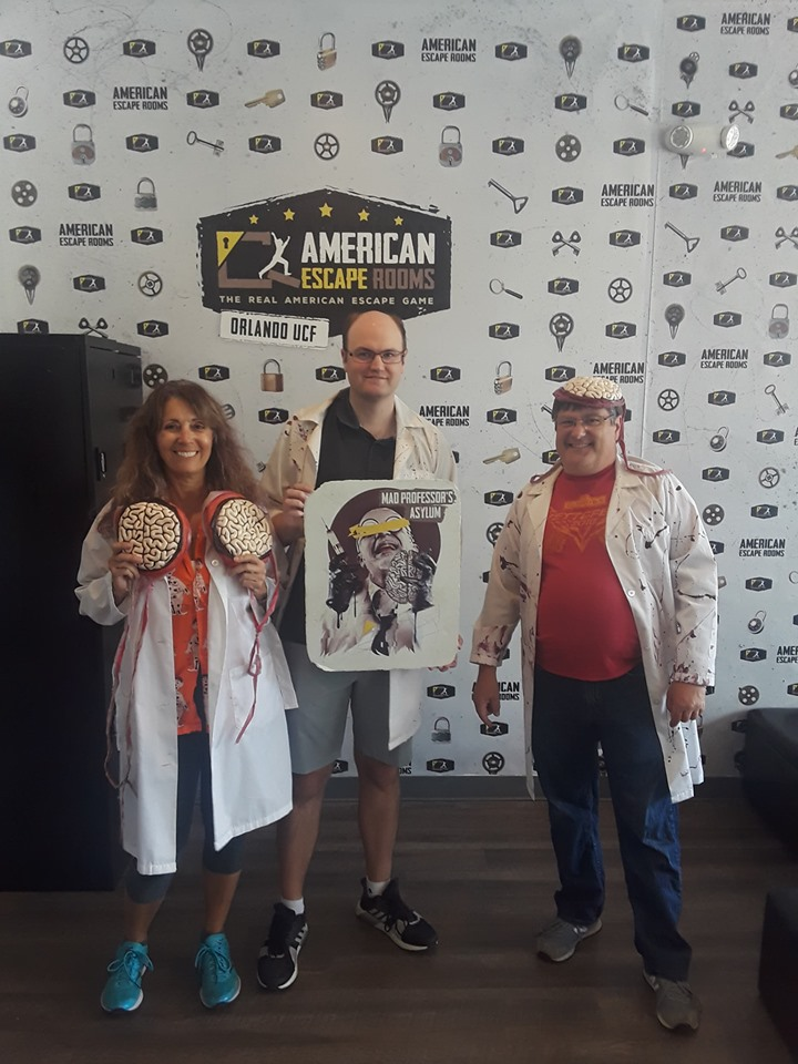 Team Lab Rats played the Mad Professor's Asylum - Orlando and finished the game with 0 minutes 0 seconds left. Congratulations! Well done!