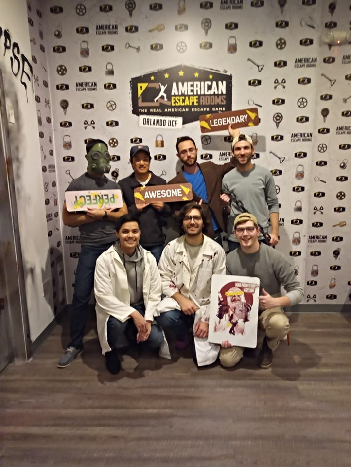 Team Wells/Zaidi played the Mad Professor's Asylum - Orlando and finished the game with 21 minutes 21 seconds left. Congratulations! Well done!