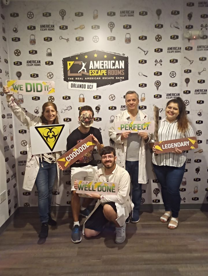 Team LA played the Zombie Apocalypse - Orlando and finished the game with 8 minutes 59 seconds left. Congratulations! Well done!